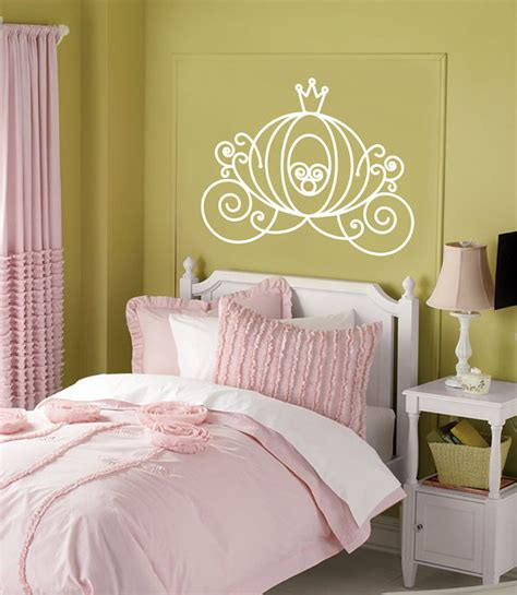 cinderella bedroom decor items similar to vinyl wall decal cinderella carriage