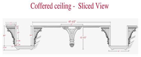 Coffered Ceiling Section Coffered Ceiling