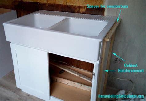 Ikea Domsjo Sink In Non Ikea Kitchen Cabinet Diy Farmhouse Sink Ikea