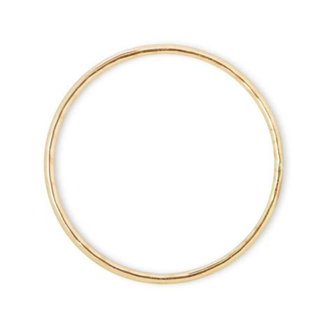 Ringe Gold by Catbird Classic Hammered Ring Yellow Gold