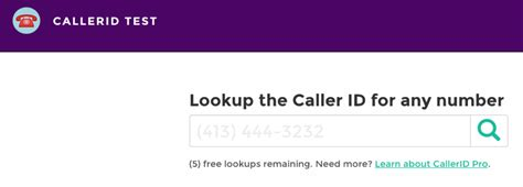 Phone Number Caller Id Lookup Test Caller Id Trapcall