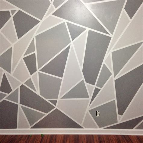 grey ombre pattern project nursery v 1 a geometric mosaic wall in grey