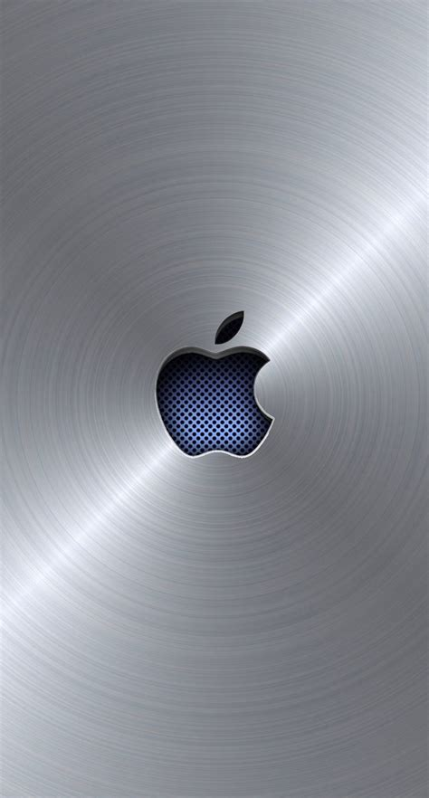 apple logo cool blue silver wallpapersc iphones