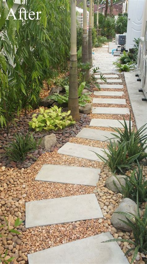 convert your building site into a low maintenance pebble