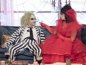beetlejuice couch holly willoughby and phillip schofield are unrecognisable