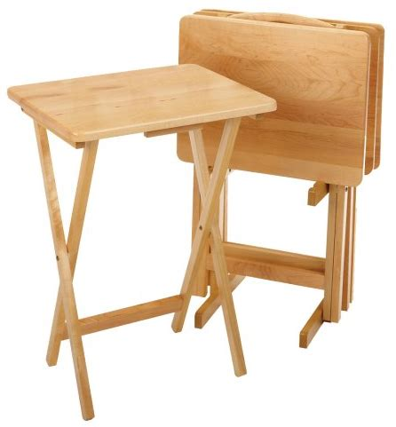 winsome wood tv table set 5 best tv tray set add convenience and style to your