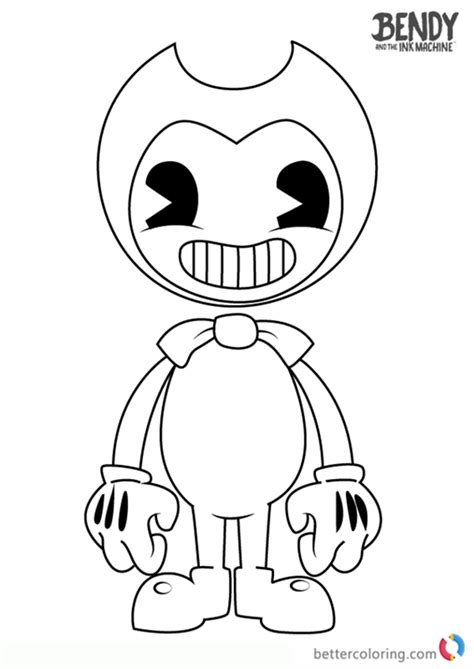 Bendy Coloring Book bendy and the ink machine coloring pages free printable