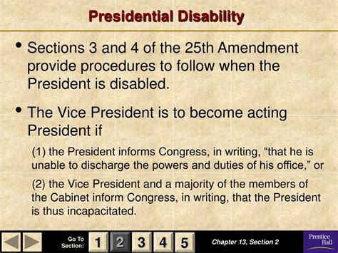 section 4 of the 25th amendment ppt magruder s american government powerpoint
