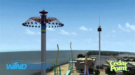 cedar point swing ride cedar point 2011 windseeker youtube