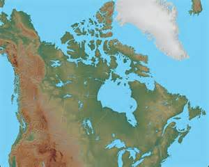 physical map of canada canada political map geology