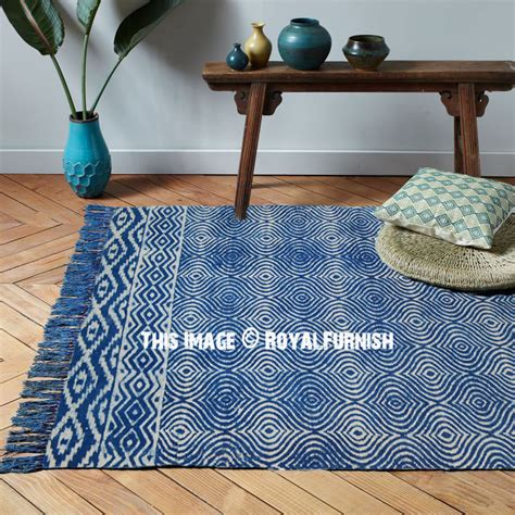 Indigo Blue Modern Trellis Outdoor Indoor Dhurrie Rug 3 X5 Modern Indoor Outdoor Rugs