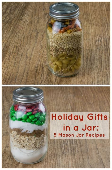 holiday gifts in a jar 5 mason jar recipes recipechatter