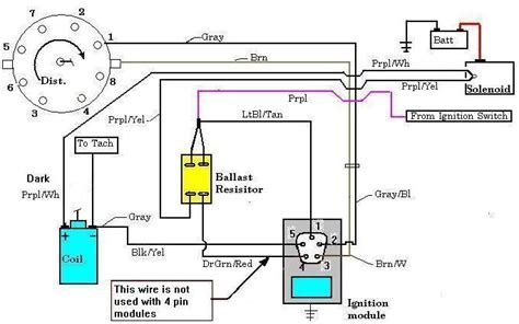 electronic ignition wiring diagram circuit and