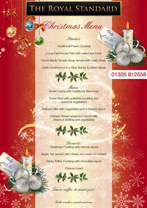 design a xmas menu christmas menu brochures