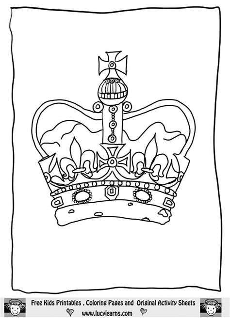 crown template ks1 flower crown coloring pages