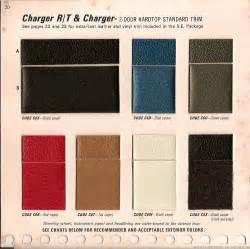 the 1970 hamtramck registry 1969 dodge color trim book