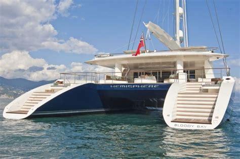 catamaran auction yacht charter aboard world s largest catamaran hemisphere