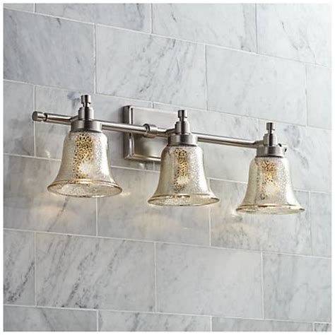 possini bathroom light fixtures possini euro 26 1 2 quot wide mercury glass 3 light bath