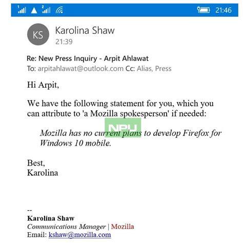 mozilla for mobile mozilla plant keinen firefox f 252 r windows 10 mobile