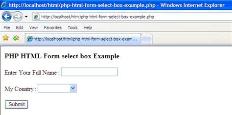 emanpredis html form select options