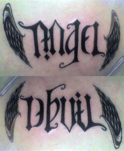 angel demon tattoo designs 25 best ideas about on