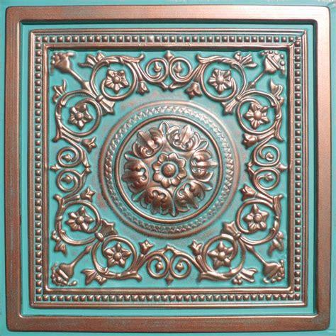 copper drop ceiling tiles 24 quot x24 quot majesty antique copper patina pvc 20mil ceiling