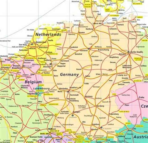 map netherlands germany map germany netherlands holidaymapq
