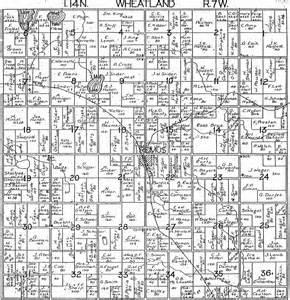 Michigan Plat Maps by 1918 Wheatland Township Mecosta County Michigan Plat Map