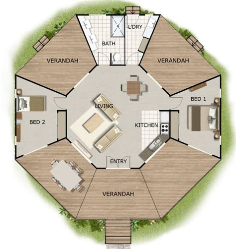 octagon floor plans octagon house plans