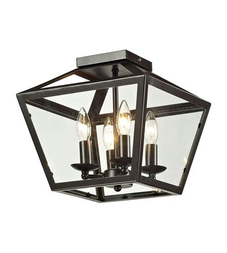 ELK 31506/4 Alanna 4 Light 12 inch Oil Rubbed Bronze Semi Flush Mount Ceiling Light