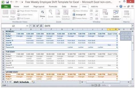 multiple employee work schedule template work templates schedule sample resume