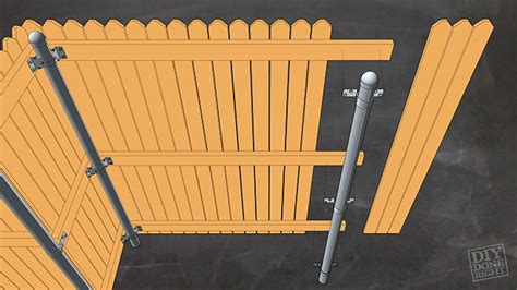 fencing  metal posts diy