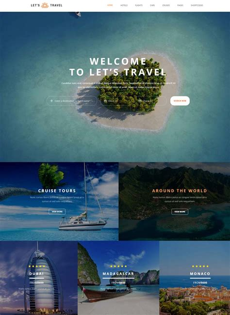 10 Best Hotel Website Templates For Hotel And Travel Booking Sites Booking Website Template