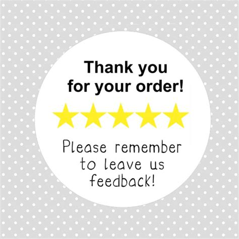 thank you for your reviews thank you for your order leave feedback review stickers