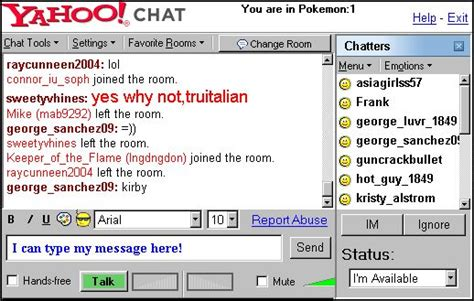 free yahoo messenger chat room brings back yahoo chat rooms on messenger misstechy