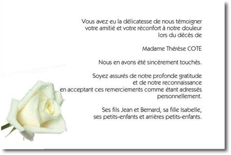 Exemple De Lettre De Remerciement Pour Un Enterrement Quot La Blanche Quot Carte De Remerciement D 233 C 232 S Sur Deuil Imprim
