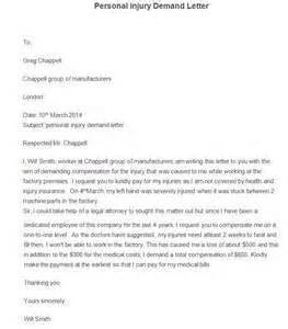 sample demand letter personal injury letter of