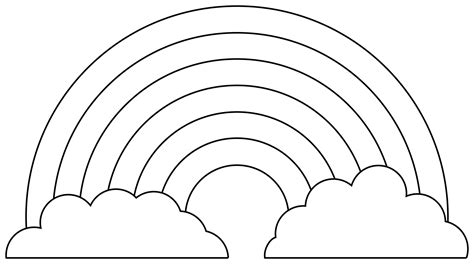 Clipart - Rainbow for coloring Rainbow Clipart Outline