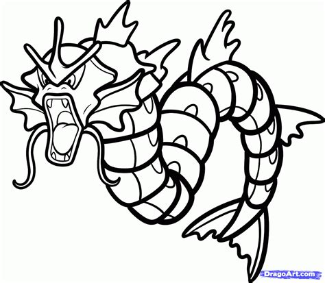 pokemon coloring pages magikarp how to draw gyarados gyarados from pokemon step by step