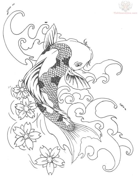 koi fish outline tattoo designs koi fish design sles