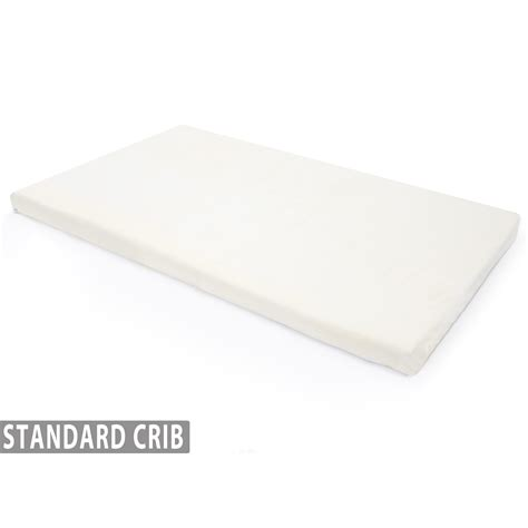 Crib Mattress Pad Memory Foam 2 Ventilated Memory Foam Crib Mattress Topper With Waterproof Cover Milliard Bedding