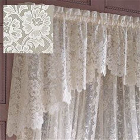 Shari Lace Curtains Jc Penney Shari Lace Shaped Valance Home Kitchen