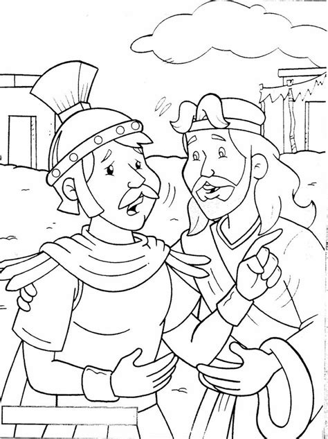 Luke 7 Coloring Page the faith of a centurion matthew 8 luke 7 coloring
