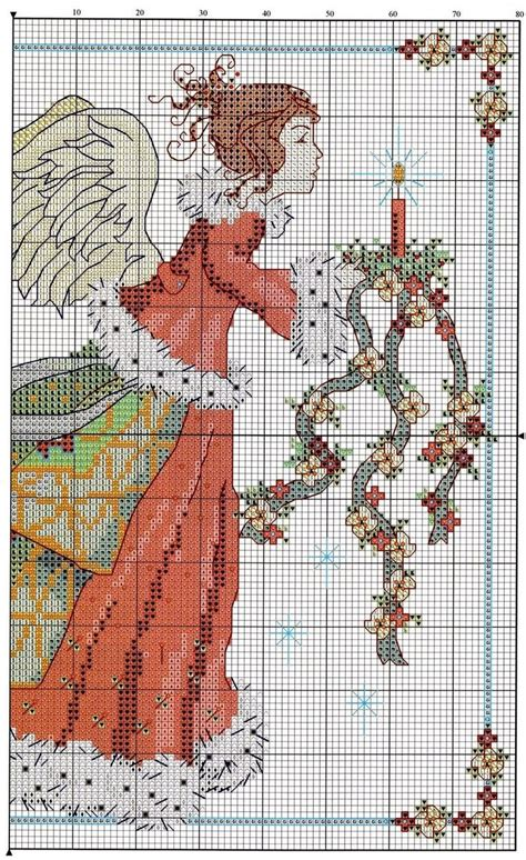 pattern for christmas angel free christmas angel cross stitch pattern pg 1 stitching
