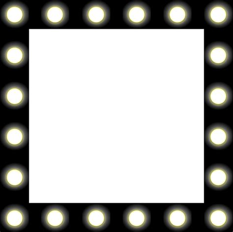 mirror with light border mirror lights backstage black border bulbs frame