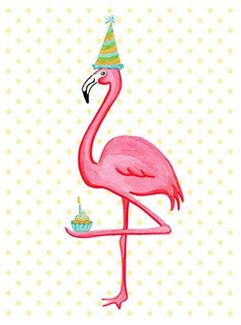 birthday greeting card pink flamingo who i cupcakes
