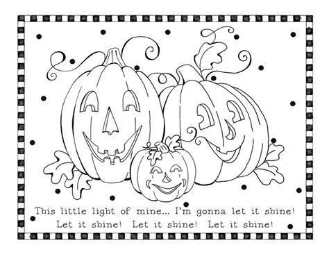 pumpkin coloring pages for sunday school let it shine coloring page karla s korner