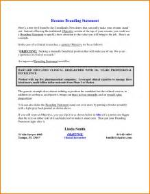 Exle Of Personal Statement For Resume by 11 Personal Branding Statement Resume Exles Attorney