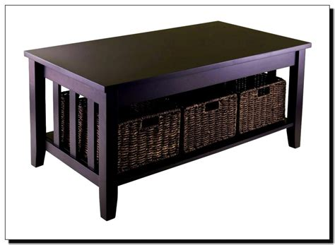 Coffee Tables With Storage Baskets Coffee Table With Storage Baskets Hd Home Wallpaper