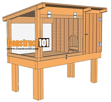 Rabbit Hutch Designs Free Rabbit Hutch Plans Step By Step Plans Construct101